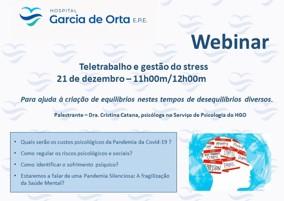 imagem do post do Webinar |Teletrabalho e gestão do Stress | 21 dezembro